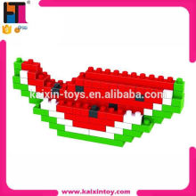 promotional toys gift 90pcs ABS plastic watermelon fruit loz diamond block in China