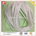 flat white earloop for plastic face mask consumables with good elasticity soft clean Polyester Spandex