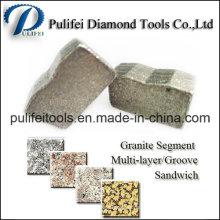 Segment de coupe de pierre pour les outils de granit de lame de scie de granit