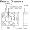 DC безщеточный 30X30X10mm поклонников 3010 промышленного воздухе экстрактор