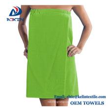 wholesale customized cotton bath towel wrap/bath towel dress /sexy bath dress