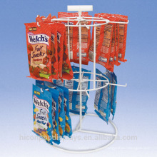 Complete Fit Out To Meet Your Exact Specifications Potato Chips Retail 2-Layer Tabletop Wire Hanging Display Racks