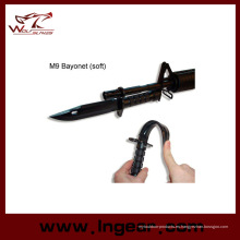 Plástico de airsoft M9 Dummy bayoneta con vaina modelo para Cosplay