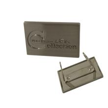 Accesorio de bolsos Logotipo de metal grabado personalizado