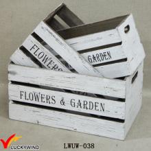 Kiste Stil Box Antique White Holz Pflanzer