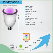 Умный светодиодный фонарик с Bluetooth-динамиком