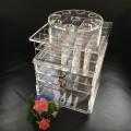 Kundenspezifischer Acryllippe-Glanz 360 Grad-Umdrehungs-Anzeigen-Zahnstangen-Standplatz-Großverkauf