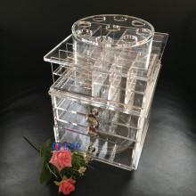 Custom Acrylic Lip Gloss 360 degrés Rotation Display Rack Stand Vente en gros