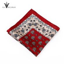Personalizado famoso marca de seda tejido bolsillo cuadrado