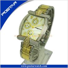 Reloj multifunción personalizado para hombres con banda de acero inoxidable