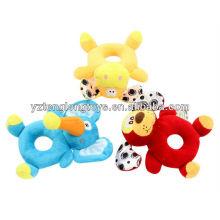 El mejor regalo del bebé colorido animales felpa sonajero bebé