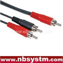 1 enchufe RCA a 2 cables de división de enchufe RCA