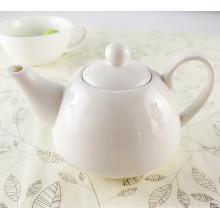 Juego de pote de té de cerámica de color blanco personalizado