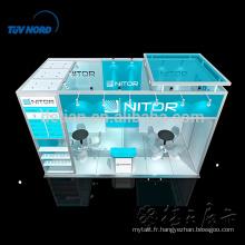 Conception portative de stand de stand juste portative adaptée aux besoins du client pour le salon en Chine