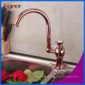 Fyeer Rose or 360 robinet de cuisine pivotant pour double évier
