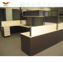 Commercial Large Size Office Wooden Desk Office Cubicles with Ao2 System Style (HY-2799)