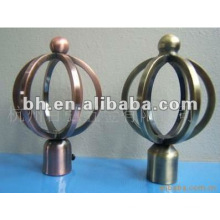 Iron wire curtain pole finial,hot sell new design wrought iron curtain finial