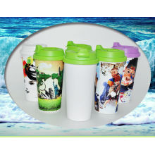 plastic travel mug,sublimation sport bottle, plastic water bottle
