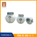 ceramic white porcelain coffee tea canister set with spoon