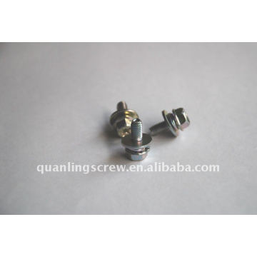 Hex Head with Serration and Washers Machine Screw