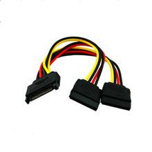 Cable de alimentación SATA 15pin macho a 2 hembra HDD Splitter