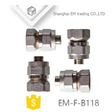 EM-F-B118 Conexión de tubería de unión de latón hembra al-pex-al
