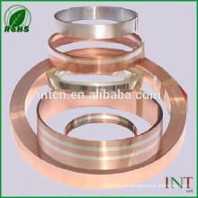 tira bimetálica de cobre folheado prata