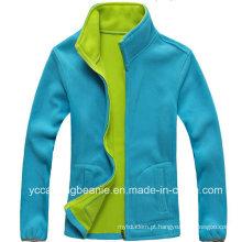 Jaqueta de lã polar desportiva ao ar livre para senhoras
