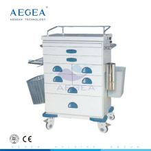 AG-AT021 ISO CE medicine distribute hospital patient crash cart medical trolleys