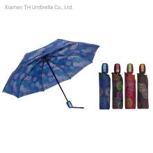 Auto Open&Close with Folding Printing Umbrellas