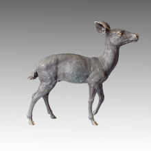 Animal Large Garden Sculpture Deer Decoration Bronze Statue Tpal-057