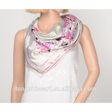 polyester printed triangle scarf 705-03 HB018