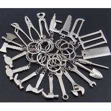 OEM Metal Creative Mini Tool Keyring Keychain Key Ring Chain