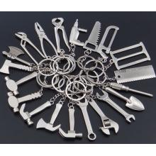 Corrente do anel chave do chaveiro da chave da ferramenta do metal do OEM mini chave criativa