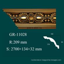 environmental building material Polyurethane ceiling cornice profiles for interior