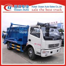 Dongfeng hidráulica pequeño columpio contenedor camión de basura
