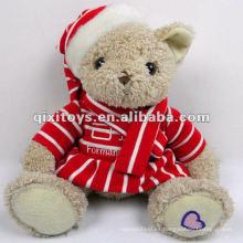 el más nuevo mini oso de peluche de peluche de juguete para la decoración de Navidad