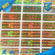 Holograma de segurança personalizado / etiqueta holograma de preço barato / etiqueta de adesivo de holograma etiqueta adesiva