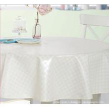 Белая круглая скатерть напечатанная PVC с nonwoven Затыловкой дизайн скатерть