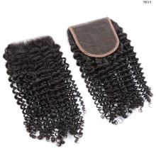 Brésilin extension de cheveux de vison, One Vendor Péruvienne Kinky Curly Closure
