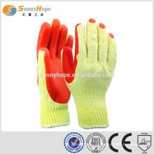 10 Gauge gestrickter roter Gummi Handschuhe für den Bau