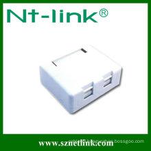 2 port rj45 surface mount box