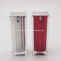Quality silver square acrylic lotion bottle plastic cosmetic bottle packaging