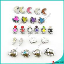 Atacado mais novo design 8 milímetros slides encantos jóias (sc160419109)