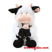 Мягкая большая корова и теленочек