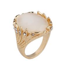 Dubai 24k Gold Plated Ring Men Gold Ring Design Big Crystal Gold Ring