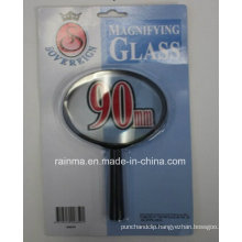90mm Cheap Magnifying Glass with Plastic Handle Magnifier
