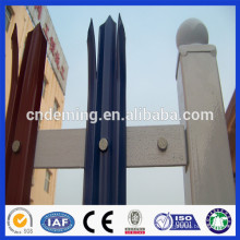 DM powder coated colored high quality steel palisade