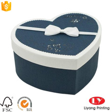 Forma de coração de presente diy caixa de papel de embalagem de chocolate