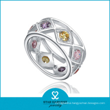 Unique Rhinestone 925 Sterling Silver Ring for Free Sample (R-0189)